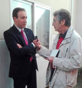 El presidente de la red de municipios por la familia, Ángel Juárez